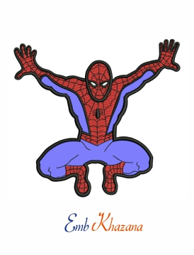 Spiderman Applique Embroidery Design