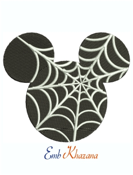 Mickey Mouse Spider Web Machine Embroidery Design