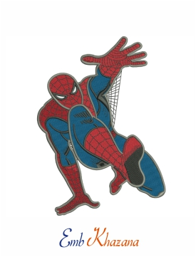 Spider-man cartoon embroidery