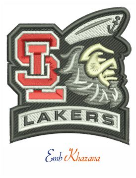 Spring Lake Lakers Logo Embroidery Design