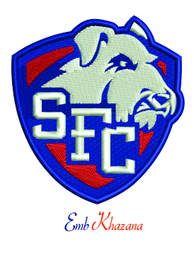 St Francis Brooklyn Terriers logo embroidery design