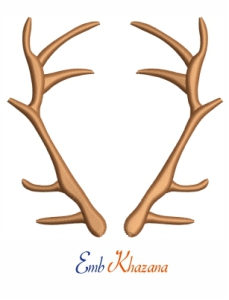Stag Horn Embroidery Design