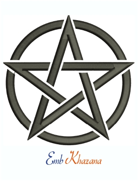 Star Pentagram Machine Embroidery Design