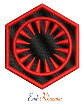 First Order Symbol Embroidery design