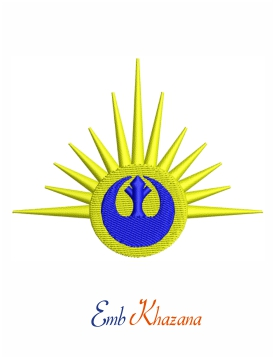 Star wars new republic embroidery design