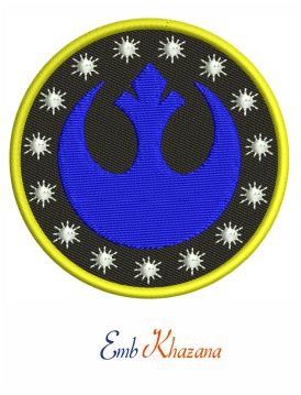 Star Wars New Republic Symbol Machine Embroidery Design