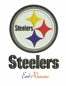 Steelers logo machine embroidery design