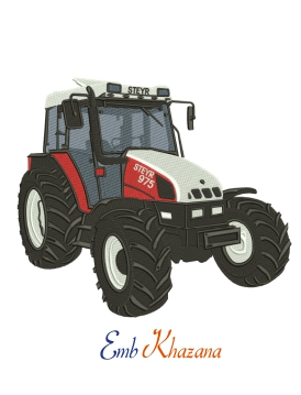 Steyr Tractor Embroidery Design