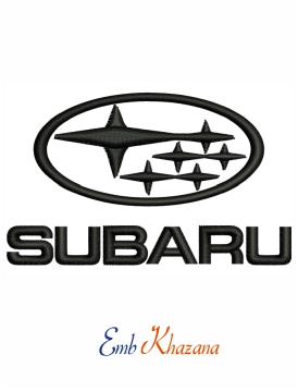 Subaru car logo embroidery design