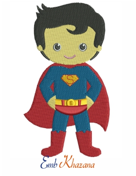 chibi superman cartoon