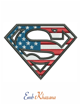 superman usa flag logo