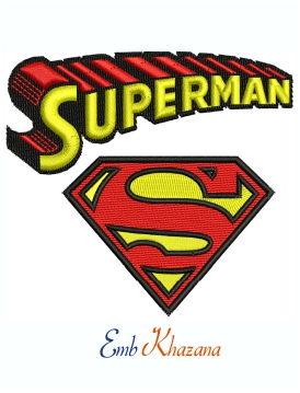 Superman Logo And Symbol Machine Embroidery Design