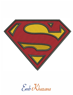 superman logo embroidery designs