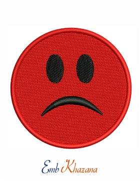 red sad face emoji