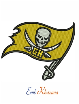 Tampa bay flag embroidery design