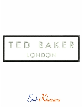 Ted baker logo embroidery design