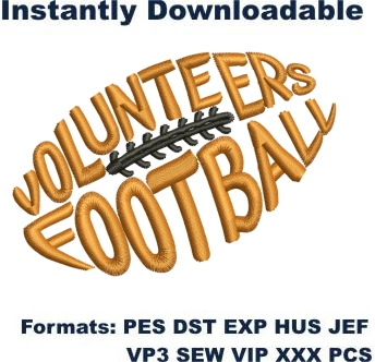 Tennessee Vols Football Embroidery Design