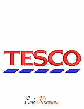 Tesco Logo Embroidery Design | Tesco Logo Embroidery Pattern