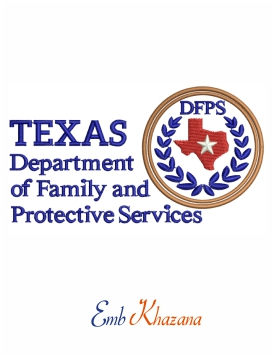 Texas DFPS Logo embroidery design