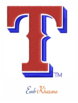 Texas Rangers T embroidery design