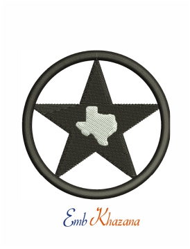 Dallas cowboy star Texas logo machine embroidery design