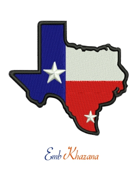 Texas Map Flag
