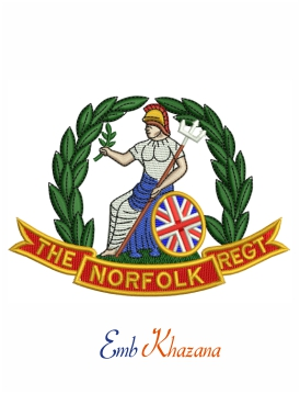 The Norfolk regiment embroidery design