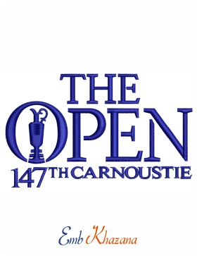 The Golf Open 147 Carnoustie Logo