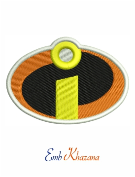 The Incredibles Logo Embroidery Design