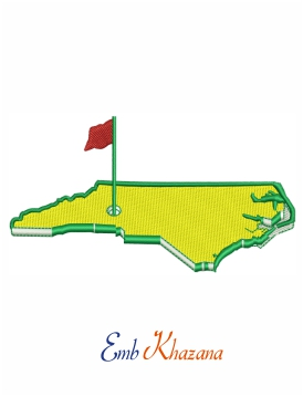 The Master Golf Embroidery Design