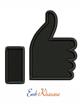 Thumb up symbol embroidery design