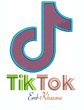 Tik Tok Machine Embroidery design