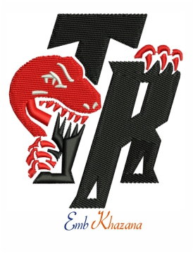 Toronto raptor logo embroidery design