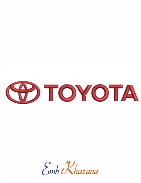 toyota car logo Embroidery