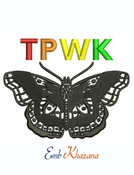 TPWK Butterfly Harry Styles Machine Embroidery Design