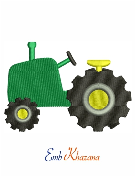 Simple Tractor embroidery design