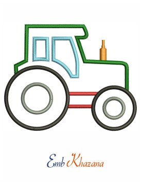 Tractor Embroidery Pattern