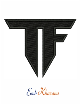 Transformers Tf Logo embroidery design