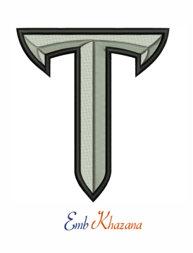 Troy trojans football logo embroidery design