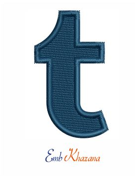 Tumblr t logo embroidery pattern