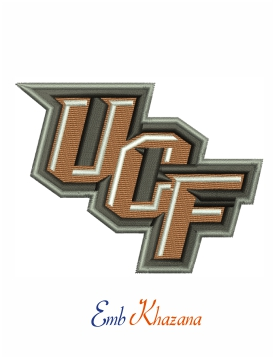 UCF Knights logo machine embroidery design