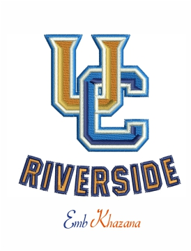 uc riverside highlanders logo embroidery design