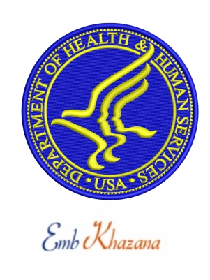 US Department of Health and Human Services embroidery design