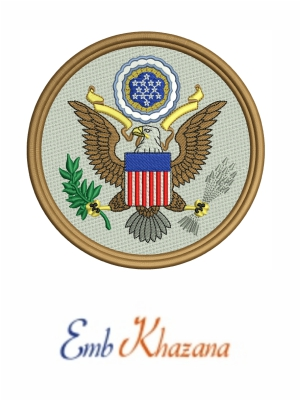 Great Seal of the US Logo Embroidery Design