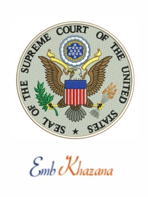 Seal Of The US Supreme Court Logo Embroidery Design