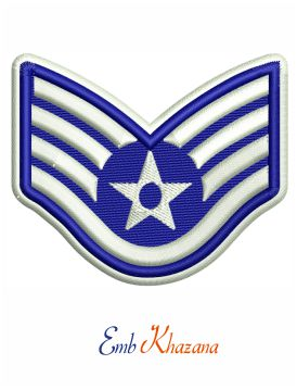 US Air Force Staff Sergeant Rank embroidery design