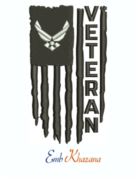 US Air Force Veteran Logo Machine Embroidery Design