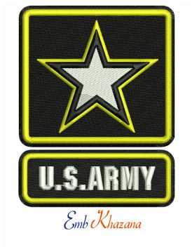 US Army Logo embroidery design