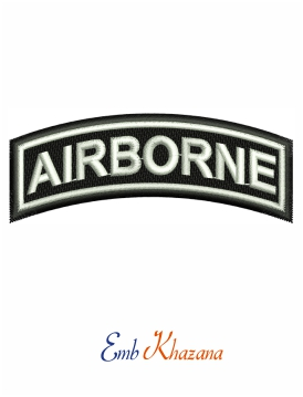 US Army airborne tab embroidery design
