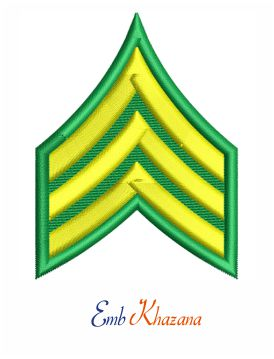 US Army sergeant rank insignia embroidery design